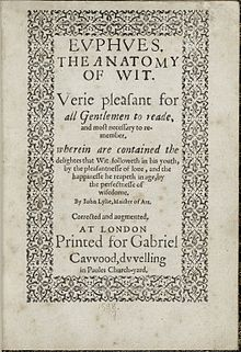 the two gentlemen of verona a 1587 printing of john lyly s euphues the anatomy of wit