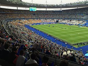 Euro  Stade De France France Roumanie  Jpg The Stade De France Held The Final Event  Fifa World Cup