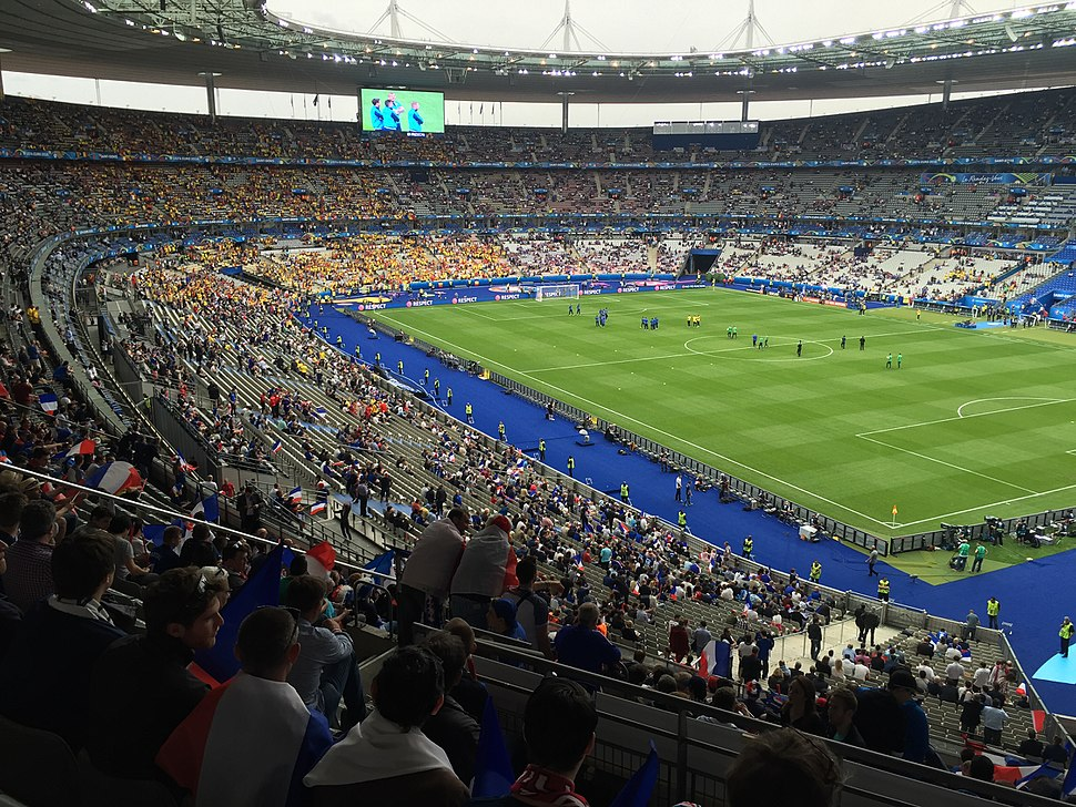 soccer match at the Stade de France for the 1998 FIFA World Cup