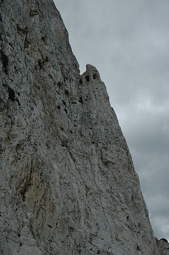 Great Siege Tunnels - View of The Notch as seen from Devil's Tower Road.