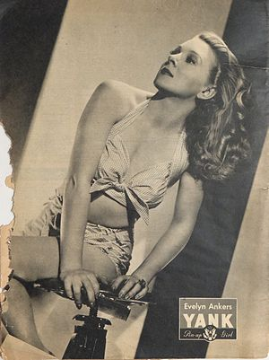 Evelyn Ankers - Evelyn Ankers pin-up from Yank, the Army Weekly, July 1945