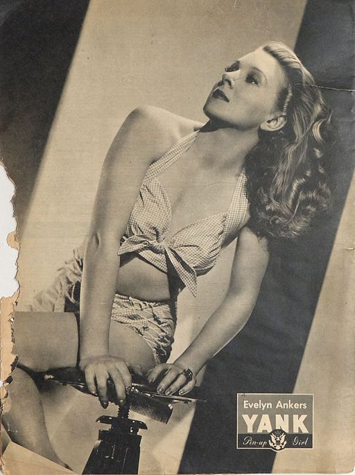 Evelyn Ankers pin-up from Yank, The Army Weekly, July 1945