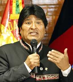 Evo Morales in Ecuador (cropped)