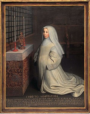 Marguerite Périer - Ex-voto portrait of Marguerite Périer attributed to François Quesnel