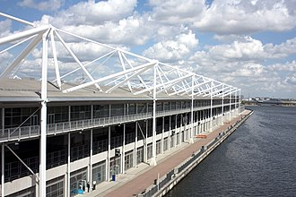ExCeL London - ExCeL waterfront south side.