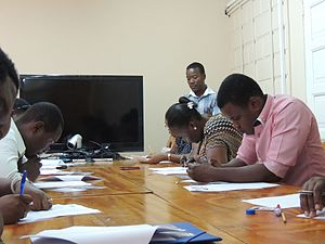 Examen AUF du MOOC GdP 7 à Port-au-prince, Haiti