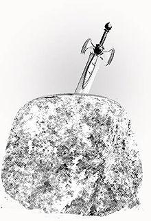 Nella leggenda gallese la spada di Artù (a volte identificata con la spada nella roccia) si chiama Caledfwlch