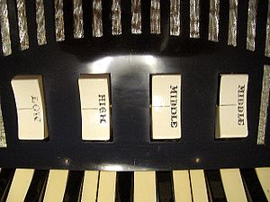 Accordion reed ranks and switches