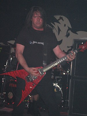 Bay Area thrash metal - Exodus guitarist and songwriter Gary Holt live in concert, 2005