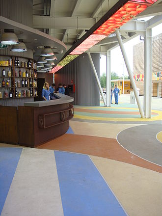 Expo 2015 pavilions - The cafe area at Argentina pavilion