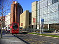 Extension of the 388 bus route to Stratford City (12032279784).jpg
