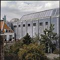 Exterieur met een met zinken losanges beklede baksteengevel - Haarlem - 20356694 - RCE.jpg