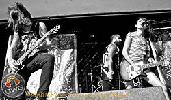 La band al Warped Tour 2010