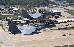 St. Louis Lambert International Airport - 131st Fighter Wing and American Airlines maintenance ramp at Lambert Airport
