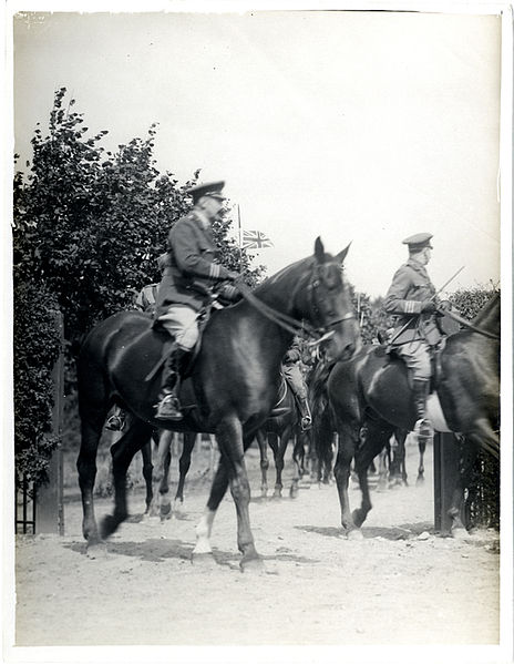 File:F.M. Sir John French riding with A.D.C.s and Indian Cavalry escort, France (Photo 24-306).jpg