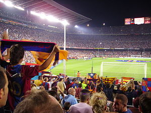Supporters of FC Barcelona - Barcelona supporters