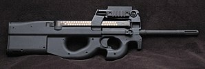 Photo of a matte black PS90 USG carbine