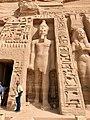 Facade Detail, Temple of Hathor and Nefertari, Abu Simbel, AG, EGY (48016736912).jpg