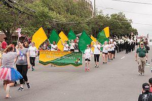 Great Mills High School - Great Mills High School marching band at 4th of July Parade at Fairfax, Virginia.