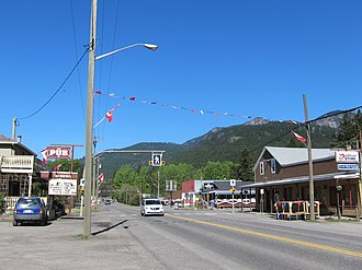 Falkland, British Columbia - Downtown Falkland, near the intersection of Highway 97 and the Chase-Falkland Road.