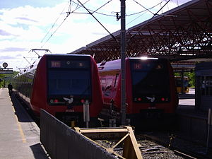 H (S-train) - Image: Farum Station som endestation for H og H+