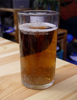 Apple Beer - A glass of apple beer