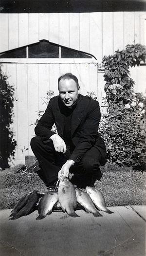 Thomas Mooney (Chaplain) - Father Tom Mooney enjoyed fishing