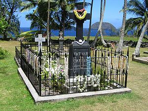 Father Damien's original grave as it looks today.
