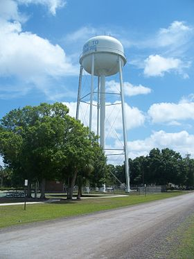Fellsmere FL water tower01.jpg