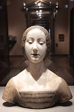 Female bust (An ideal portrait of Laura) by Francesco Laurana.JPG