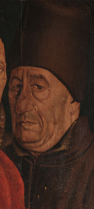 Fernão Lopes - Supposed portrait of Fernão Lopes, from Nuno Gonçalves's Saint Vincent Panels.