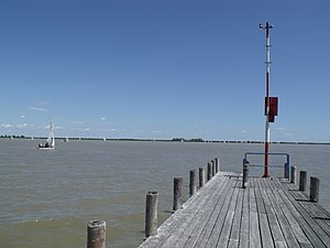 Győr-Moson-Sopron County - Image: Fertő tó a stégről Neusiedlersee from the pier panoramio