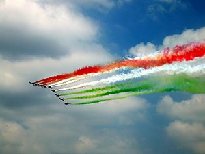 Republic Day - Frecce Tricolori at the Festa della Repubblica in Italy, 2 June 2005.