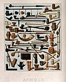 Fifty four different African pipes. Chromolithograph by Schm Wellcome V0019091.jpg