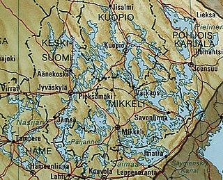 Finnish Lakeland landscape region of Finland