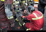 زجههای آتشنشانان حاضر در صحنه