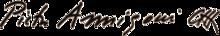 La firma di Annigoni