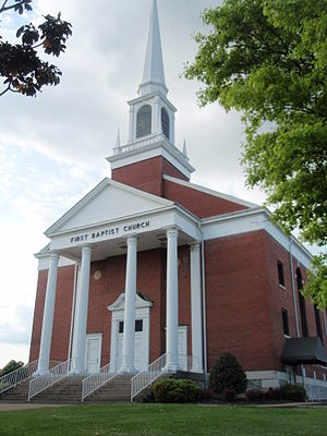 Donelson, Tennessee - Image: First Baptist Church Donelson Tennessee 04032012