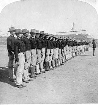 Camp Las Casas - First Company of native Puerto Ricans enlisted in the American Colonial Army, 1899