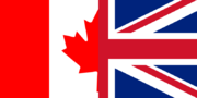 Flag of Canada and the United Kingdom