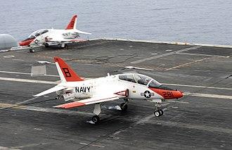 McDonnell Douglas T-45 Goshawk - Image: Flickr Official U.S. Navy Imagery A T 45C Goshawk training aircraft makes an arrested landing