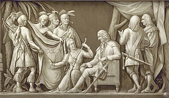 James Oglethorpe - Oglethorpe and the Indians, frieze in the United States Capitol Rotunda. Photo courtesy of the Architect of the Capitol