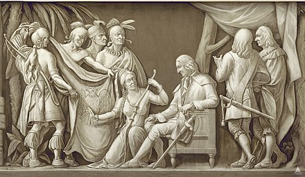 Oglethorpe and the Indians, frieze in the United States Capitol Rotunda. Photo courtesy of the Architect of the Capitol Flickr - USCapitol - Oglethorpe and the Indians.jpg