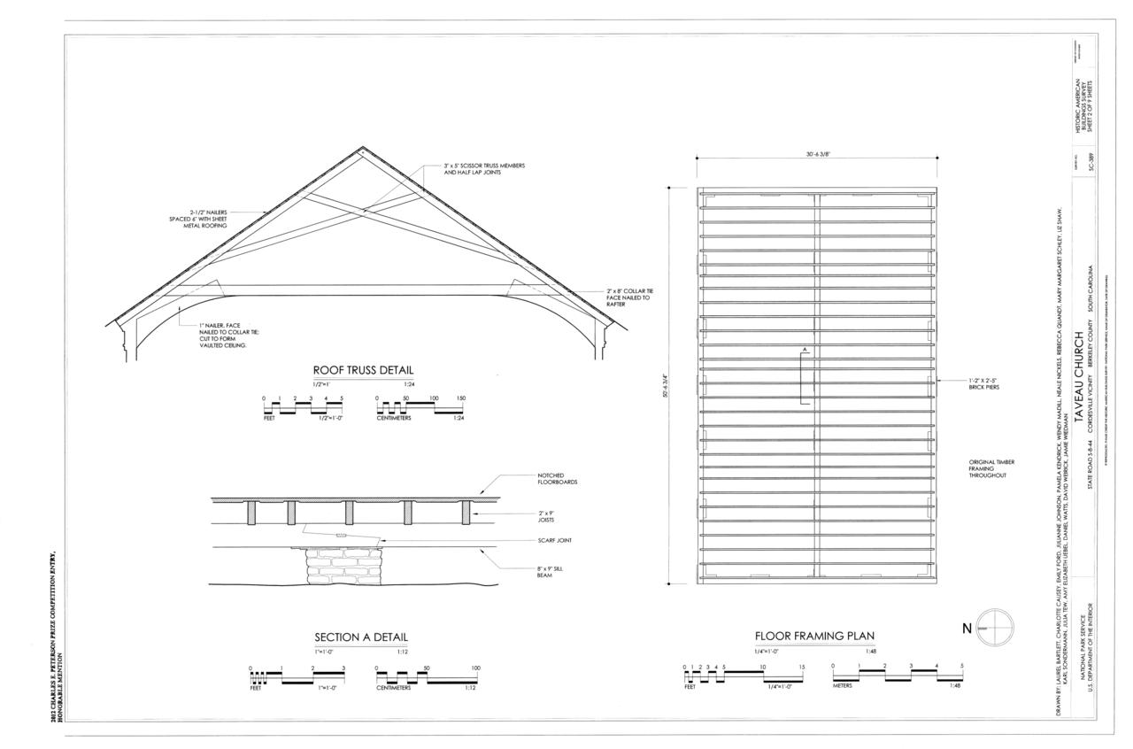 File Floor Framing Plan Roof Truss Detail Taveau Church