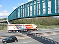 Footbridge and truck - geograph.org.uk - 774712.jpg
