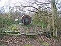 Footpath meets Footbridge - geograph.org.uk - 1065660.jpg