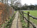 Footpath through the grounds of Plumpton Agricultural College - geograph.org.uk - 1768856.jpg