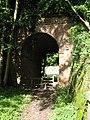 Footpath under the dismantled railway line - geograph.org.uk - 988473.jpg