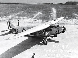 Ford 6-AT-AS Tri-Motor (G-CYWZ) RCAF v červnu 1931