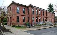 Former PRL&P Sellwood Division Carbarn Office and Clubhouse north facade (2016).jpg